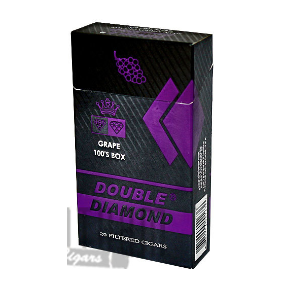 Cigarette Diamond: Double Diamond Cigar Grape 20CT