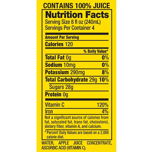 Suncup Fruit Punch Juice Drink Ingredients