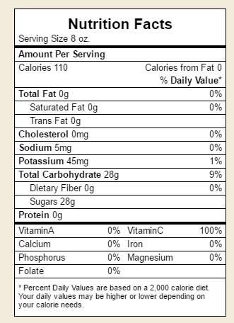 Clamato Juice Nutrition Facts Nutrition Ftempo