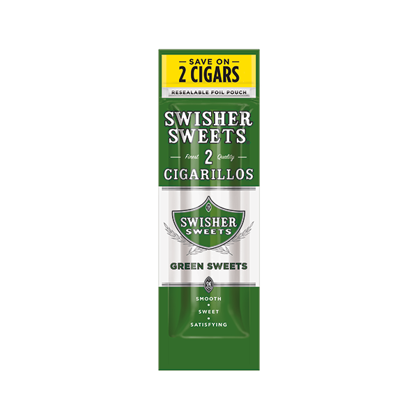 swisher cigarillo green sweet 2 pack p.99 | resnick distributors