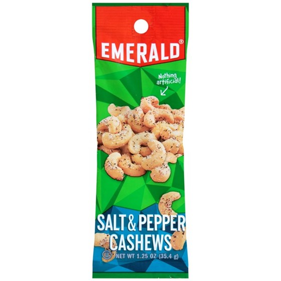 Emerald Tube Cashew Salt and Paper 1 2 oz  | Resnick Distributors